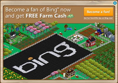 Farmville Ad for Bing